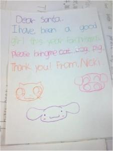 lettera di una bimba